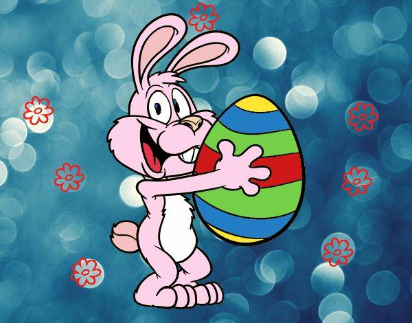 Disegno il coniglietto di pasqua colorato da utente non - Lettere stampabili del coniglietto di pasqua ...