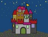 Disegno Un castello pitturato su gaga