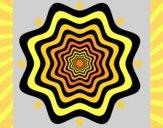 Disegno Mandala 46 pitturato su gaga