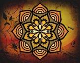 Disegno Mandala Crescita esponenziale pitturato su gaga