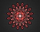 Disegno Mandala lampeggia pitturato su gaga