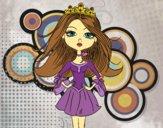 Disegno Principessa moderna pitturato su gaga