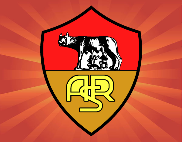 disegno stemma del as roma colorato da utente non