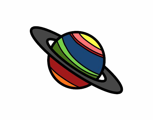 Disegno Pianeta Saturno Colorato Da Utente Non Registrato Il 17 Di