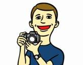 Ragazzo con macchina fotografica