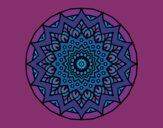 Disegno Crescente mandala pitturato su lella18