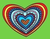 Disegno Mandala cuore pitturato su lella18