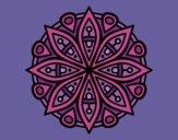 Disegno Mandala per la concentrazione pitturato su lella18
