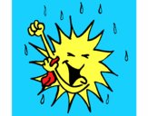 Il sole si fa la doccia
