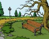 Disegno Parco paesaggistico pitturato su lella18