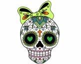 Teschio messicano infiocchettata