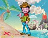 Disegno Cowboy pitturato su Achille