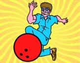 Disegno L'uomo bowling pitturato su Achille