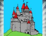 Disegno Castello medievale  pitturato su Mathias