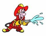 Vigile del fuoco in azione