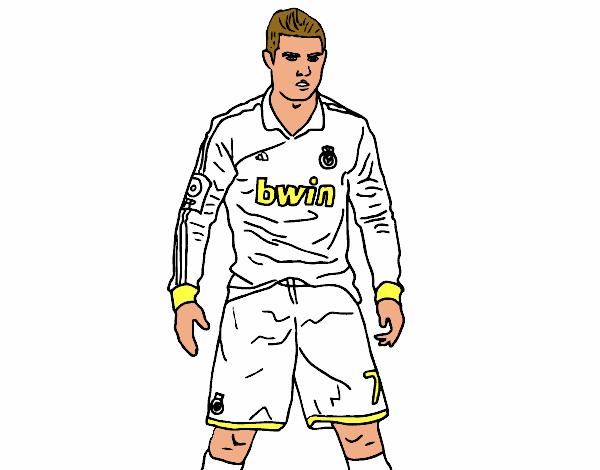 Disegno Cristiano Ronaldo Real Madrid Colorato Da Utente Non