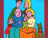 Disegno Famiglia pitturato su Mathias