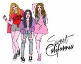 Disegno Il gruppo Sweet California pitturato su alessia07