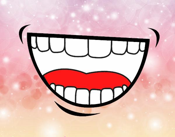 Disegno bocca colorato da socialface il 11 di giugno del 2016 for Bocca da colorare