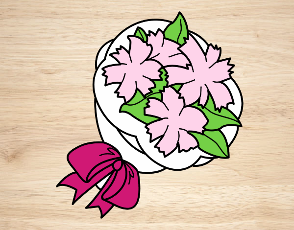 Disegno il mazzo da sposa colorato da utente non for Disegni del mazzo del cortile