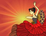Donna flamenco