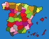 Disegno Le province di Spagna pitturato su marcello