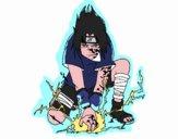 Disegno Sasuke pitturato su Yaya03