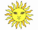 Disegno Sole  pitturato su Yaya03