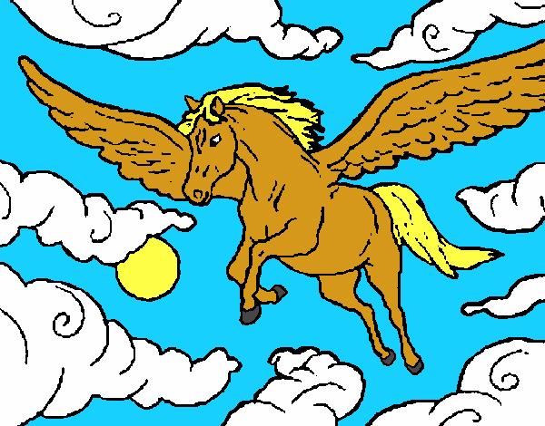 disegno cavalli alati colorato da utente non registrato il