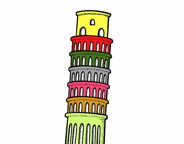 Disegno Torre Di Pisa Colorato Da Utente Non Registrato Il