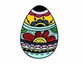 Uovo di Pasqua con stampa floreale
