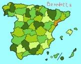 Disegno Le province di Spagna pitturato su bb10