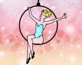 Disegno Donna trapezista pitturato su alessia07