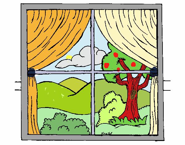 Disegno finestra colorato da utente non registrato il 01 for Finestra rinascimentale disegno