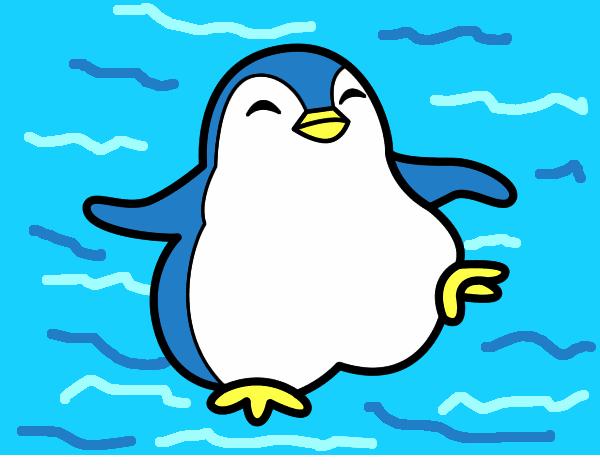 Disegno pinguino ballerino colorato da utente non for Disegno pinguino colorato