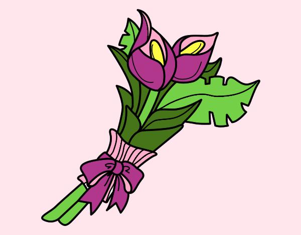 Disegno mazzo di calla colorato da utente non registrato for Disegni del mazzo del cortile
