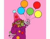 Pagliaccio con palloncini