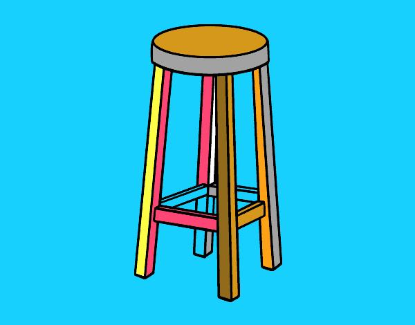 Disegno Sgabello alto colorato da Utente non registrato il 29 di Settembre de...
