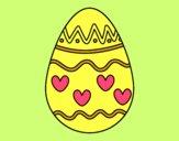 Uovo con cuori