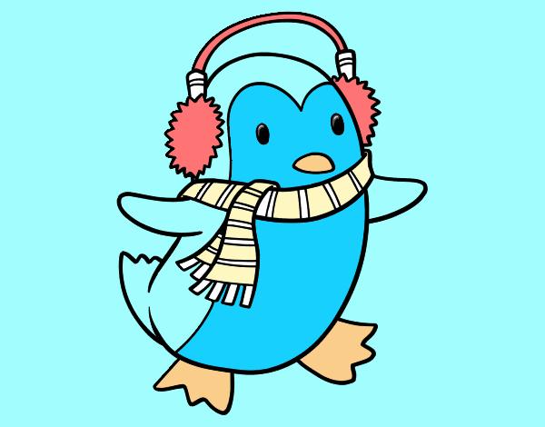 Disegno pinguino con la sciarpa colorato da utente non for Disegno pinguino colorato