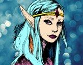 Disegno Principessa elfo pitturato su noiu-u98