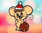 Mouse con il cappello di Natale