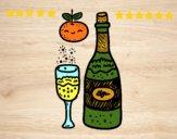 Vetro di champagne Capodanno