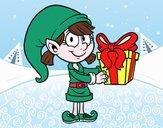 Elfo con il regalo