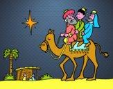 Disegno I tre Re Magi pitturato su FrancyCepp