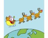 Babbo Natale che consegna i regali 3