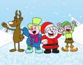 Babbo Natale ed i suoi amici