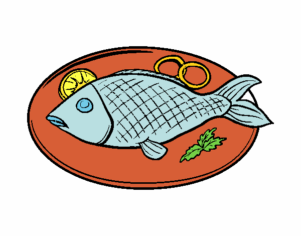 Disegno Piatto Di Pesce Colorato Da Utente Non Registrato Il 16 Di