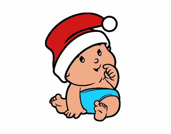 Cappello Babbo Natale Disegno.Disegno Bambino Con Cappello Di Babbo Natale Colorato Da Utente Non Registrato Il 22 Di Dicembre Del 2016