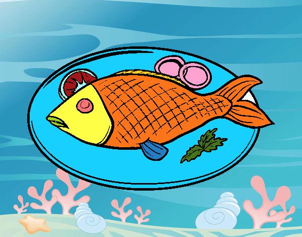 Disegno Piatto Di Pesce Colorato Da Utente Non Registrato Il 22 Di